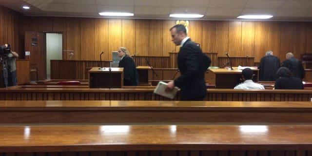 Dec. 8, 2015: Oscar Pistorius in court in Pretoria, South Africa.