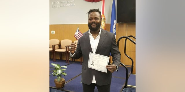 Minnesota Twins pitcher Fernando Rodney left Sunday's game against the Tampa Bay Rays to become a U.S. citizen.
