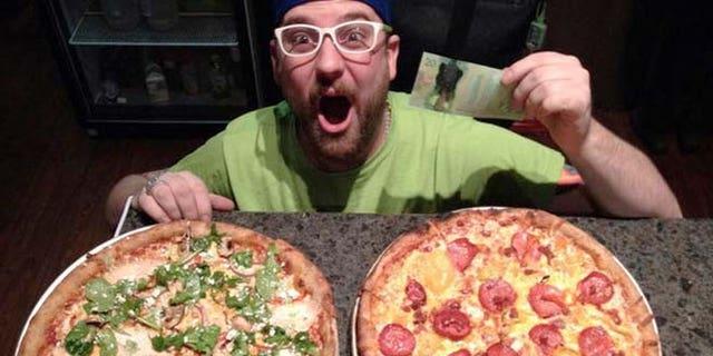 Mega ILL's pot-infused pizza.