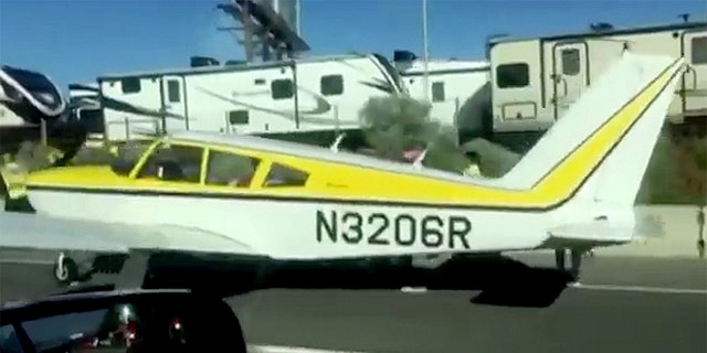 No injuries were reported in the airplane or on the ground.