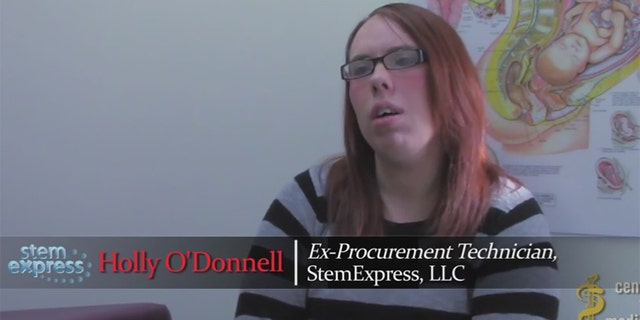 Holly O'Donnell says she worked for six months for a company that procured tissue and organs for Planned Parenthood, which then presumably shipped them to research labs. (Screengrab, Center for Medical Progress video)