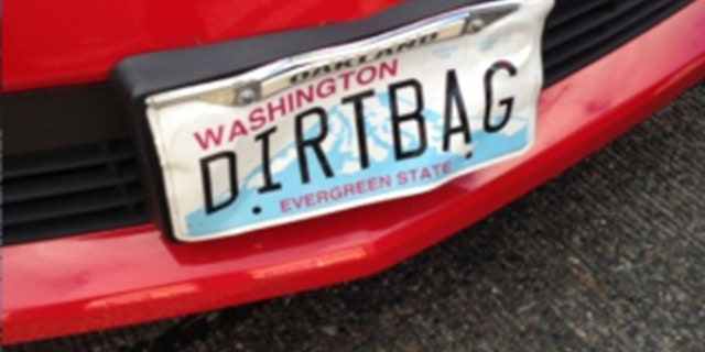 "A man driving a Camaro with a license plate that read ""DIRTBAG"" was arrested in connection with a road rage incident."