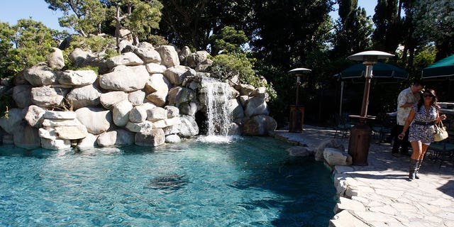The property also includes the Playboy Mansion's infamous grotto.