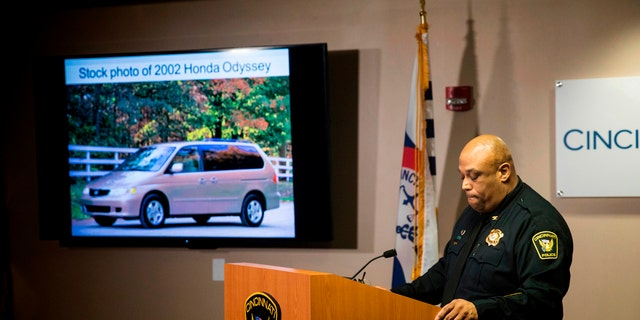 In this April 12, 2018, file photo, Cincinnati Police Chief Eliot Isaac speaks to reporters about the death of Kyle Plush during a news conference at the Criminal Investigation Section conference room, in Cincinnati.