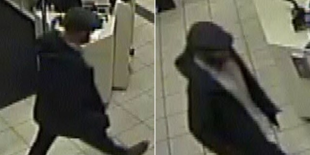 """A """"person of interest"""" as seen in a surveillance video after an incident at the Eagle Ridge Mall on Sunday."""