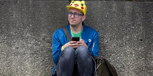 Ryan Copple, who flew from Los Angeles to Chicago for Saturday's Pokemon Go Fest in Grant Park.