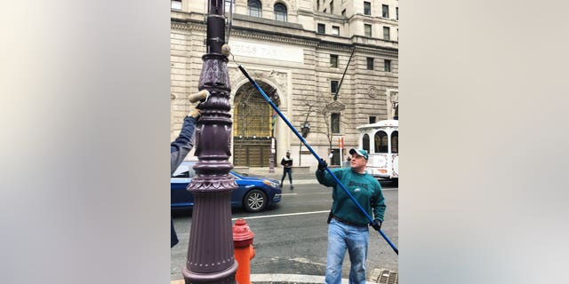 Ahead of Super Bowl LII, hydraulic fluid is reportedly being used to grease poles in Philadelphia.