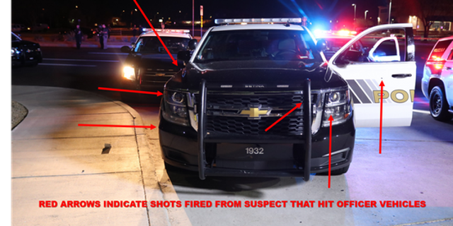Responding officers said Stout fired multiple rounds at their vehicle.