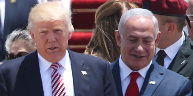President Donald Trump in Tel Aviv May 22, 2017