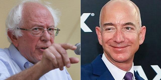 Bernie Sanders had words for Amazon CEO Jeff Bezos on Monday.