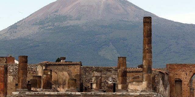 Partial view of the ancient archaeological site of Pompeii in front of Mount Vesuvius. (Credit: REUTERS/Ciro de Luca)