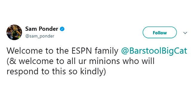Espn S Sam Ponder Calls Out Sexist History Of Network S New Partner Barstool Sports Fox News