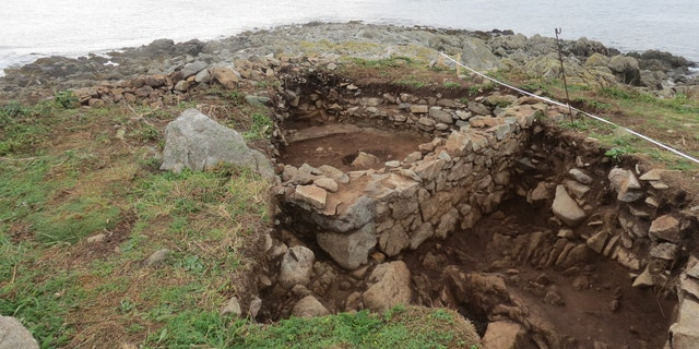 The remains of the structure on Chapelle Dom Hue that archaeologists think may be a chapel (Credit: Guernsey Museum)
