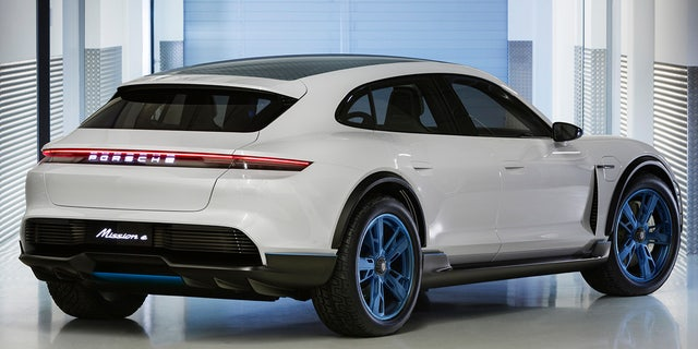 Porsche says it can get a charge good for 250 miles of driving in just 15 minutes.