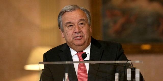 U.N. Secretary-General Antonio Guterres speaks on Oct. 6, 2016.