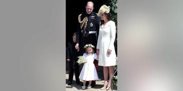 Prince William and Kate Middleton with their kids Prince George and Princess Charlotte.