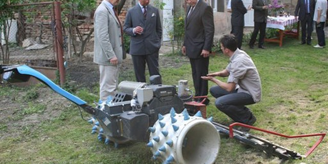 June 2012: Prince Charles on his most recent visit to a rural area of Transylvania, in Romania.