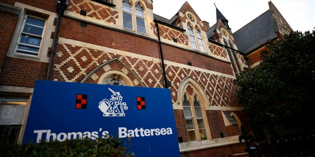 Thomas's Battersea, a private school attended by Prince George, the great-grandson of Queen Elizabeth, is seen in southwest London, Britain.