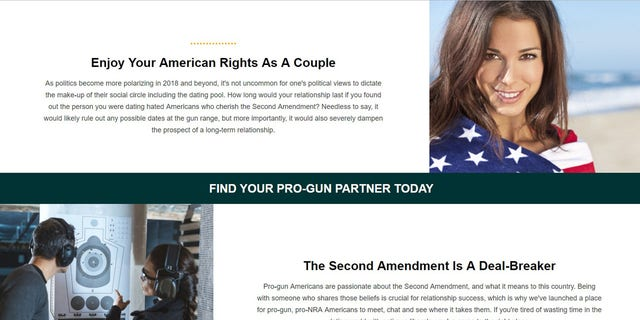 A new dating site aims to connect lovers of the Second Amendment.