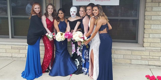 Korryn got to enjoy prom from home on Saturday, her mother said.