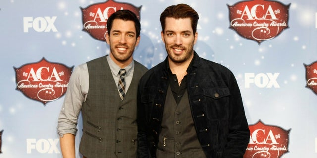 """""""Property Brothers"""" star Drew Scott [left] with his brother and co-host Jonathan Scott, married Linda Phan in Italy on Saturday."""