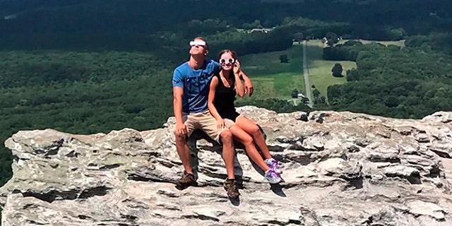 Sawyers and Bullard take in the historic eclipse.