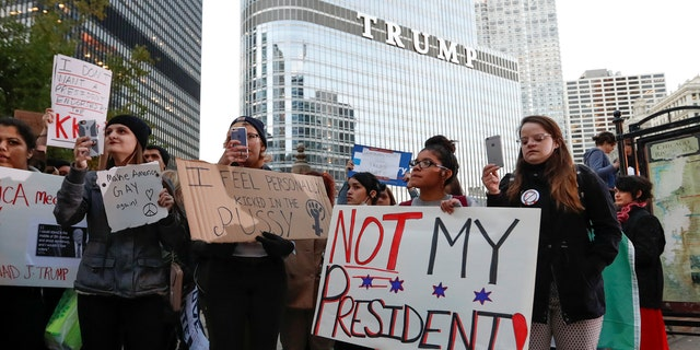 The statue is bolted into a large public sidewalk space in front of Trump Tower, an area that over the past year has been commonly used for Trump protesters who gather to demonstrate.