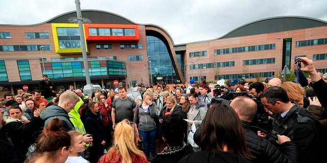 Dozens of supporters gathered outside Alder Hey hospital Monday to react to the court decision.