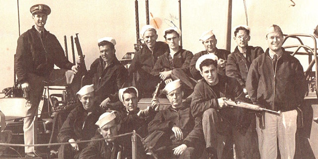 PT-305's first crew included Torpedoman First Class James Nerison, top row, second from left.