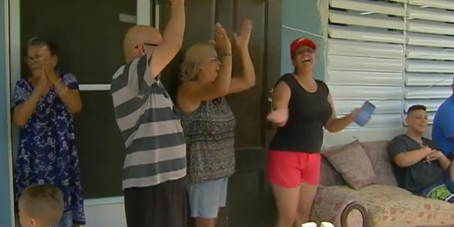 Families cheer after their power is restored six months after the devastating hurricane. For many though, six months of no work and no power has forced them to leave Puerto Rico for good. More than 135,000 people have fled to the U.S. mainland, according to an estimate by Center for Puerto Rican Studies at Hunter College in New York. On the mainland, nearly 7,000 families are in hotels and motels after FEMA extended the temporary shelter deadline until May.