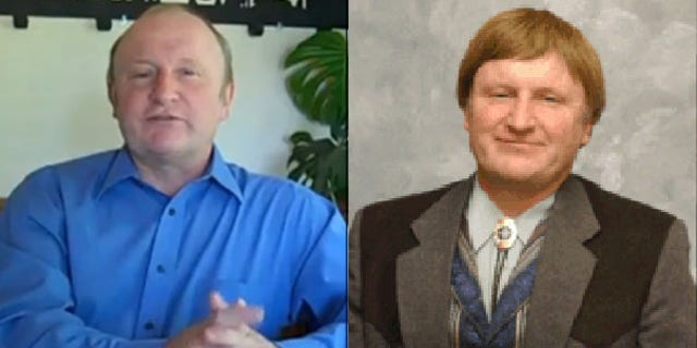 Shown here is Missouri state Sen. Chuck Purgason with and without his hairpiece. (YouTube/Missouri Senate)