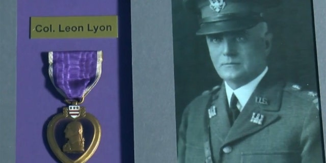 Colonel Leon Elie Lyon earned the Purple Heart for his service in World War I.