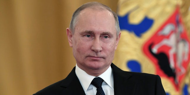 Russian President Vladimir Putin at an awards ceremony in Moscow on Thursday..