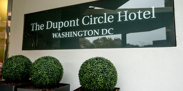 The Dupont Circle Hotel in Washington, where Lesin was found dead.