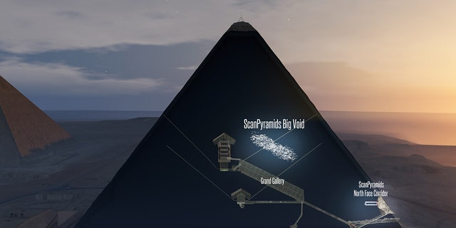 3D artist's impression of the 'void' discovered inside the Great Pyramid