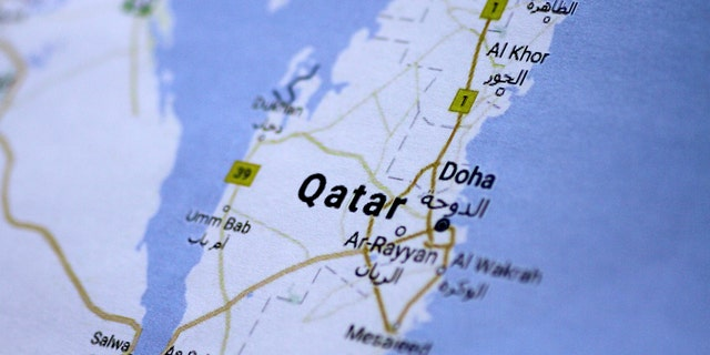 A map of Qatar is seen in this picture illustration June 5, 2017. REUTERS/Thomas White/Illustration - RTX3910P