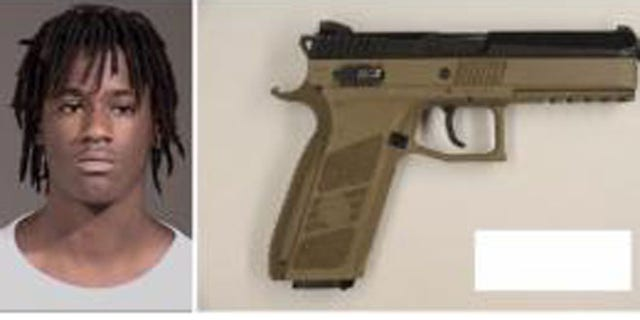 Portland police said Quanice Hayes, 17, was armed with this fake gun when he was shot by an officer Thursday.