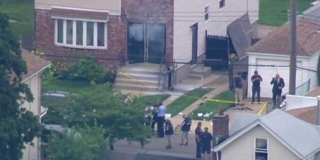 The package exploded while landlord George Wray was holding it on July 28. (FOX5NY)