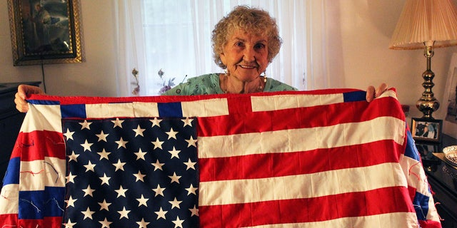 Betty Alexander, 85, finished the quilt this summer