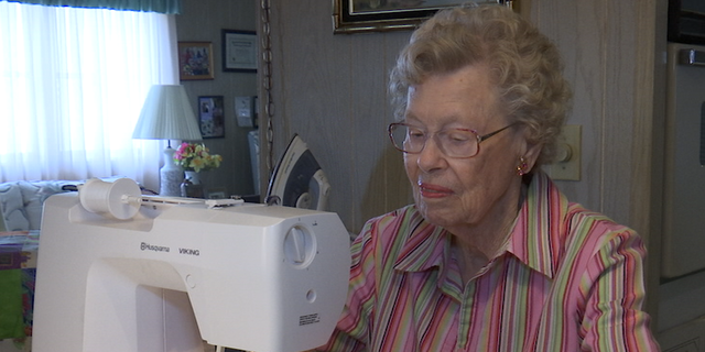 99-year-old Heft says she hopes her creations will inspire others to become involved in charity work.