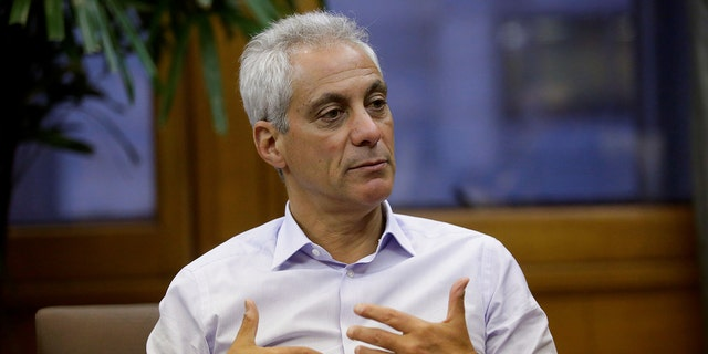 """Chicago's Fraternal Order of Police organized a unified public demonstration against Mayor Rahm Emanuel, who the FOP calls """"anti-police."""""""