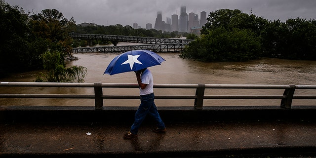 Rainfall in Texas has broken the record for the continental U.S., the National Weather Service said on Tuesday.