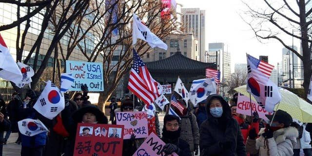 Another conservative rally in South Korea.