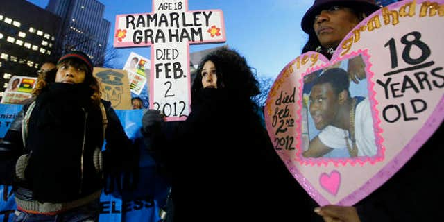 Protesters calling for a grand jury investigation into the death of Ramarley Graham, in 2014.