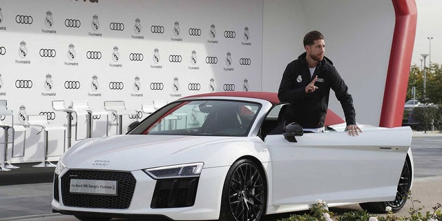 Sergio Ramos' Audi R8 costs about $200,000, but he got his for free.