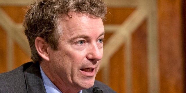 Nov. 6, 2013: Sen. Rand Paul, R-Ky., speaks on Capitol Hill in Washington.
