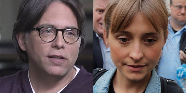 "Keith Raniere (left) and his accused sidekick, ""Smallville"" actress Allison Mack, are also being accused of crimes related to the alleged self-help group NXIVM."