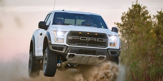 The Ranger bears more than a striking resemblance to the full-size F-150 Raptor.