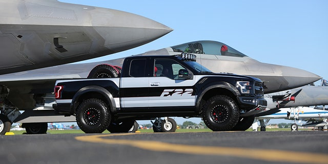 Ford's design team worked with Ford Performance to create a one-of-a-kind F-150 Raptor – inspired by the F-22 fighter jet – for auction at Experimental Aircraft Association AirVenture Oshkosh; Ford F-22 F-150 Raptor raised $300,000 to benefit the group's Young Eagles