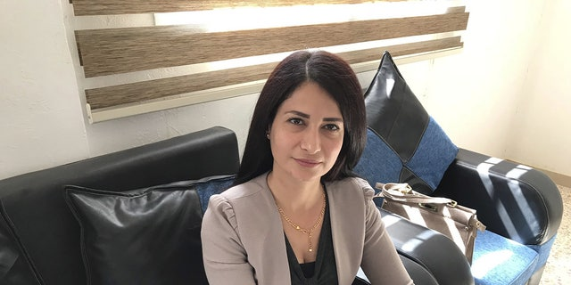 "Havrin Khalaf, Secretary-General of the new ""Future Syria Party"""